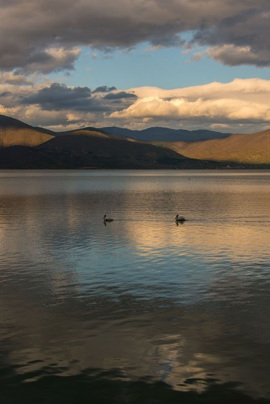 At the Kastoria lake before dusk
