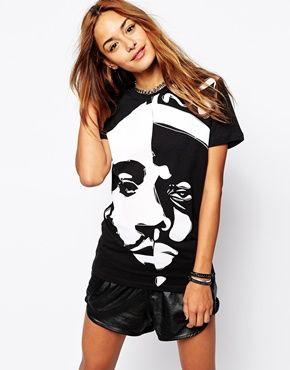 Criminal Damage Tubig King Rapper Print Oversized T-Shirt