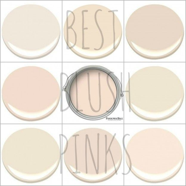MY 9 FAVORITE BLUSH PINKS - EARLY SUNSET, GENTLE REPOSE, OLD COUNTRY, PINK MOIRE, PINK GROUND, PRISTINE, PUPPY PAWS, RALEIGH PEACH AND TISSUE PINK.