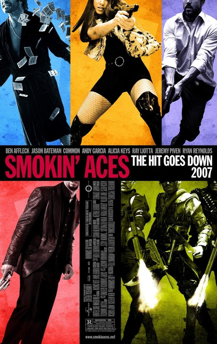 Ases calientes (2006) de Joe Carnahan (http://ultracuerpos.com/fichas/ases-calientes-smokin-aces-2006-joe-carnahan/) #pelicula #poster #movie #film