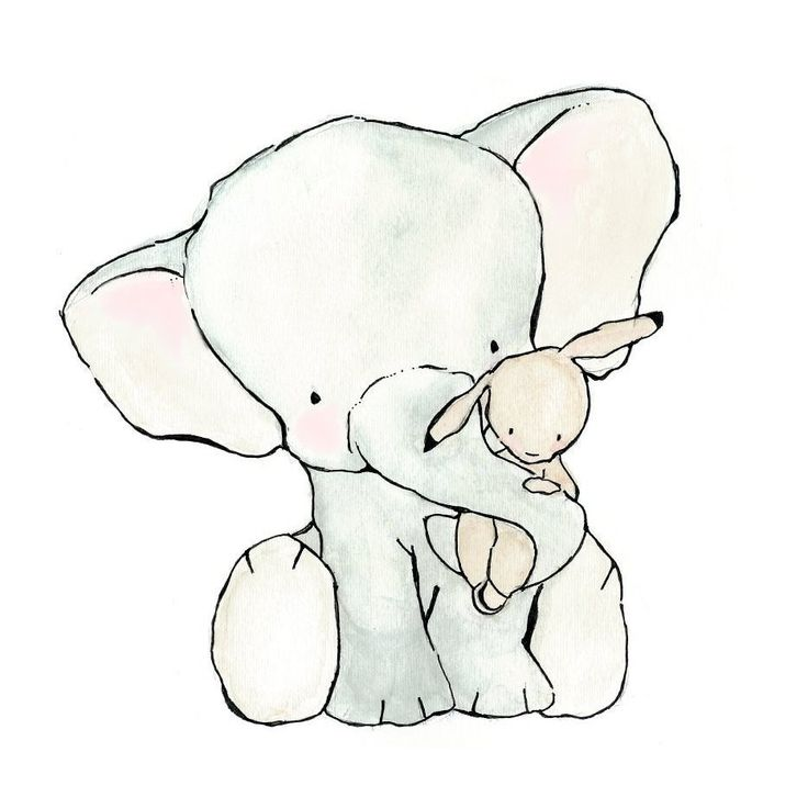 So cute I want to cry... I wish I had kids so I could buy this! Elephant Hug  8X10 Nursery Art Print  bunny and elephant $20.00