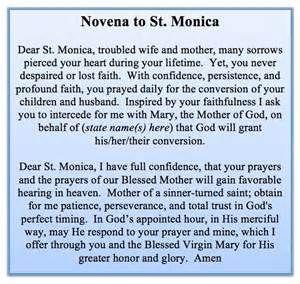 Novena to St. Monica