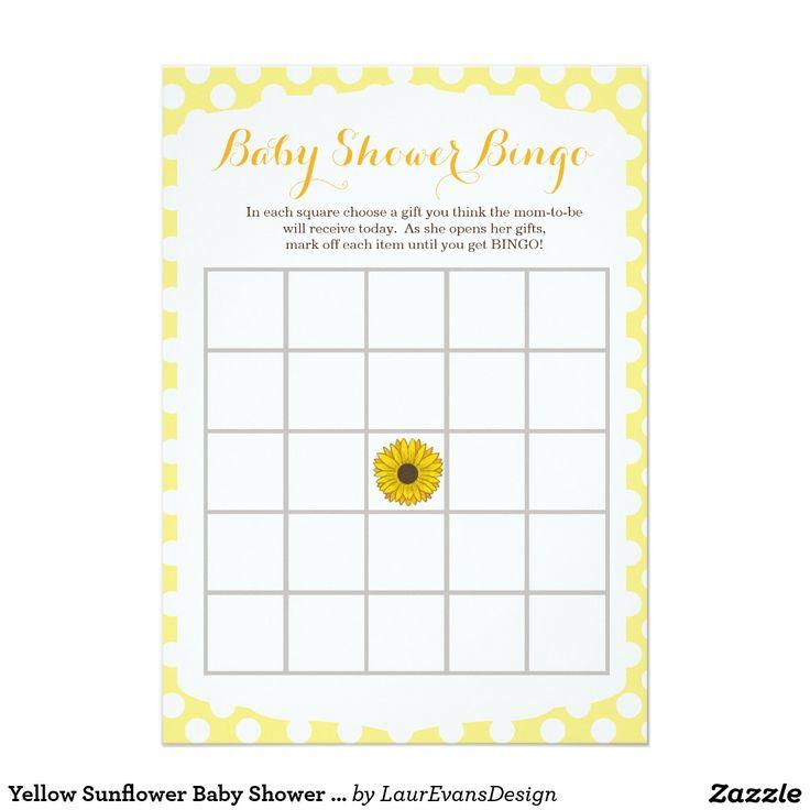 sunflower baby shower on pinterest bingo sunflower baby showers and
