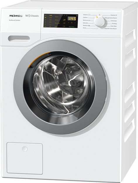 New to the Miele Discovery range and ideal for those who have just bought their first home, this heat-pump 7kg tumble dryer is A++ rated for energy efficiency