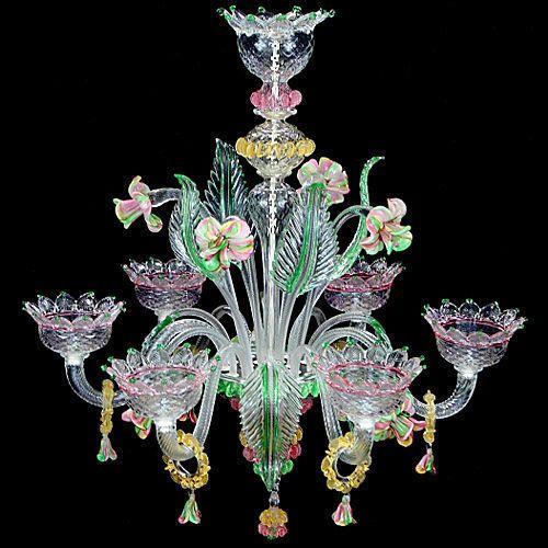 classic style chandelier (Murano glass) V STAR: ART. L0700-6 Multiforme Lighting