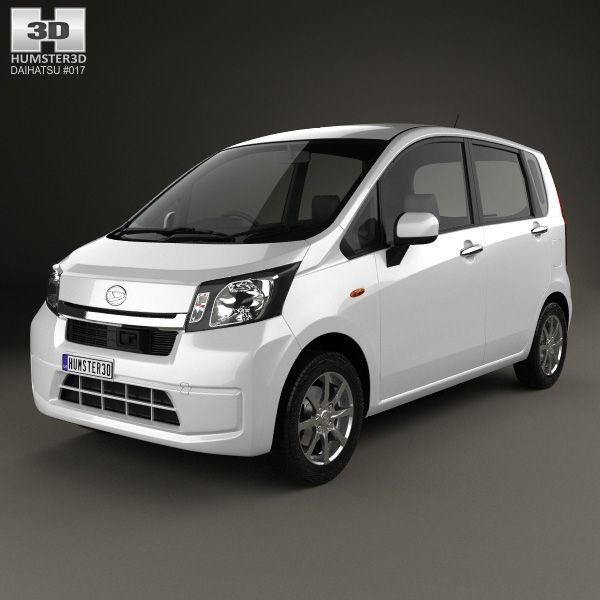 Daihatsu Move 2012 3d model from Humster3D.com
