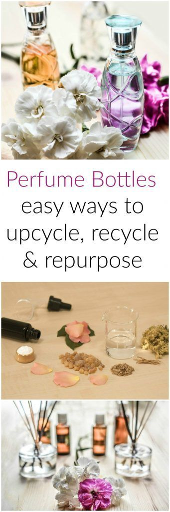 Fun things to do with upcycled perfume bottles.