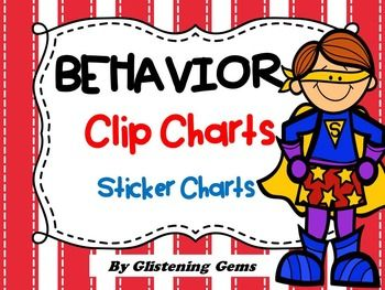 Behavior Clip Chart and Sticker Charts - Classroom decoration in Superhero theme.This package includes a superhero themed behavior clip chart that can be used to help promote positive behavior in your class. Simply write students names on pegs and then clip onto the chart, saying ready to learn.