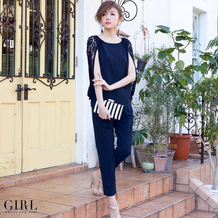 【Black】  GIRL キャメロンドレス ●価格11,800円(税込) ●サイズ/S・M・L・2L ●カラー/ネイビー・ブラック
