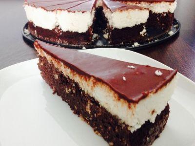 Čokoládovo-kokosová fit torta