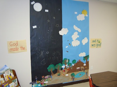 Creation mural sunday school pinterest sunday school for Creation mural kids