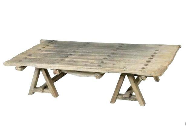 treteau table basse table basse avec treteaux avenante. Black Bedroom Furniture Sets. Home Design Ideas