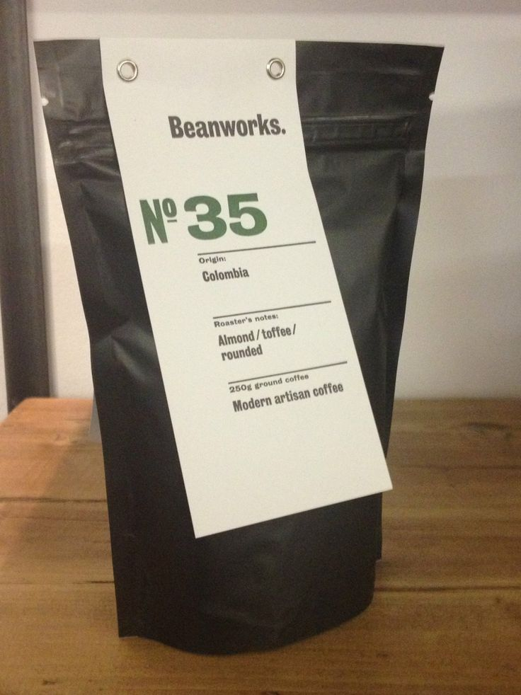 Our bag of No. 35 coffee