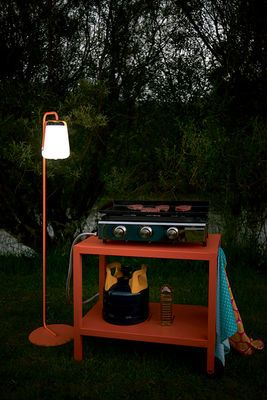 Barbecue thanks to Fermob - Lamp and leg balad and dresser by Fermob