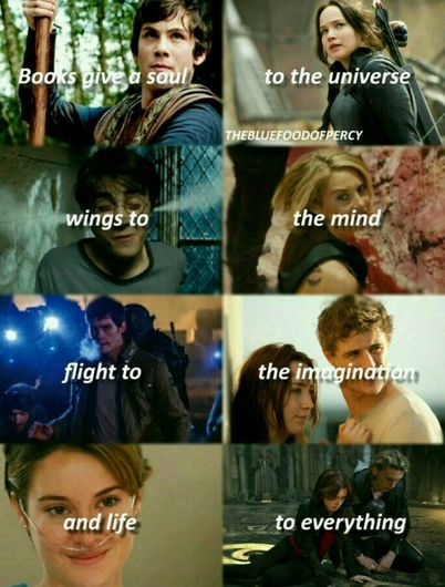 Harry Potter, Divergent, Percy Jackson, Hunger games, the host, the fault in our stars, the Mortal instruments ❤❤❤