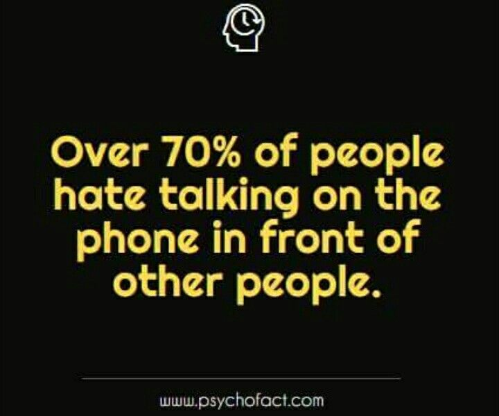 How about talking on the phone period? I'm in that category.