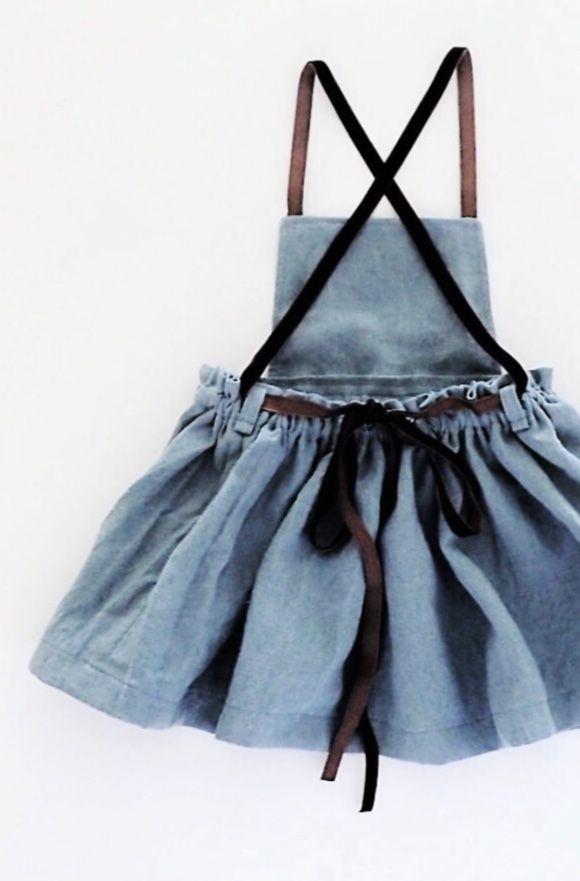 Handmade Linen Pinafore Dress | moonroomkids on Etsy