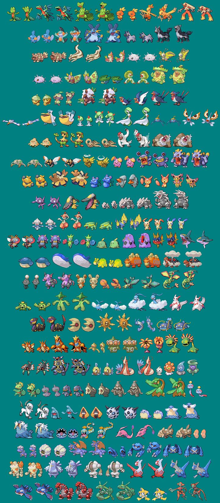how to make your own pokemon sprite