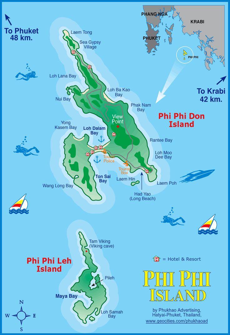 Phi Phi Island Thailand Map