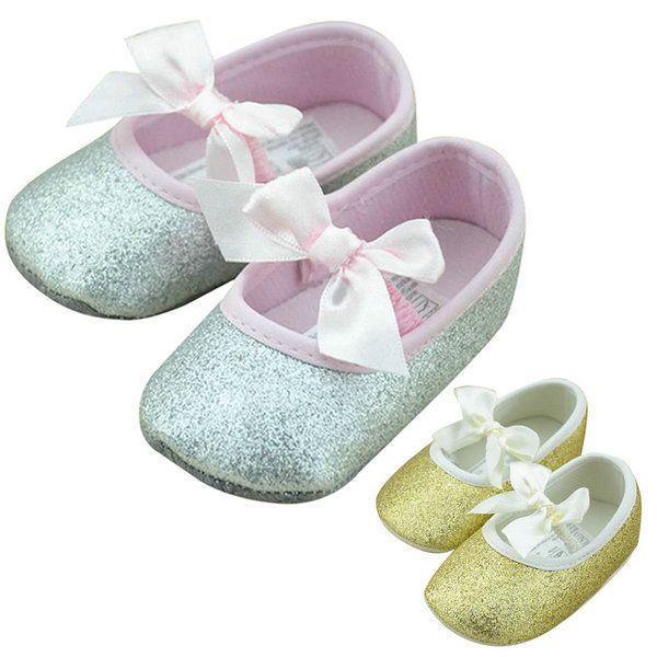 Ребенка малыша Prewalker мягкой подошвой детская кровать в обуви детские обувь для девочек лента рисунком против обуви
