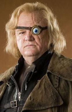 Mad Eye Moody, one of my favorite Harry Potter heroes,  played by the irrepressible Irish actor Brendan Gleeson.