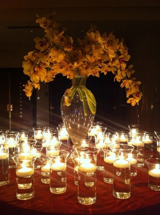Gorgeous candle display.