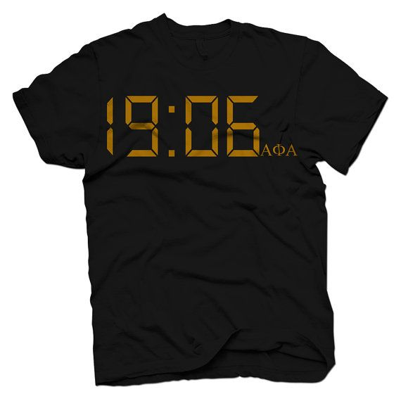 Alpha Phi Alpha Time by DeferenceClothing on Etsy