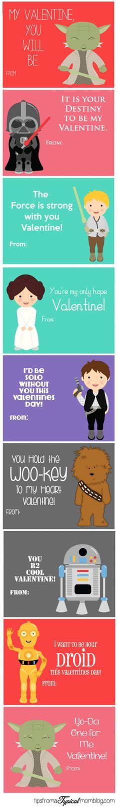 Star Wars Valentine's Day Card For Your Geeky Other Half
