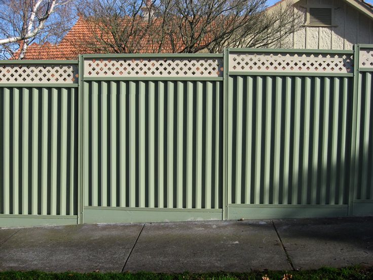 Images about industrial metal style fence ideas on