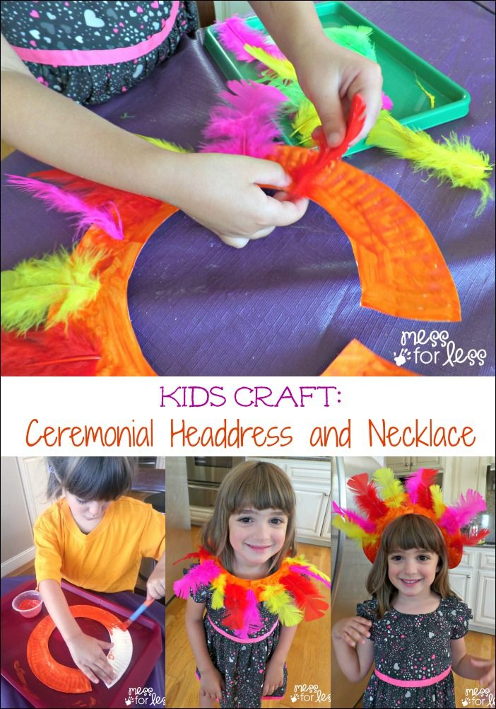 Kids Craft: Ceremonial Headdress and Necklace