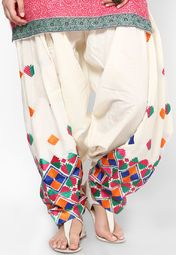 Castle Embroidered Off White Salwar & Churidar Online Shopping Store