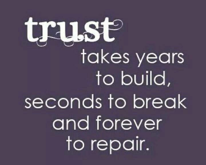 Trust....