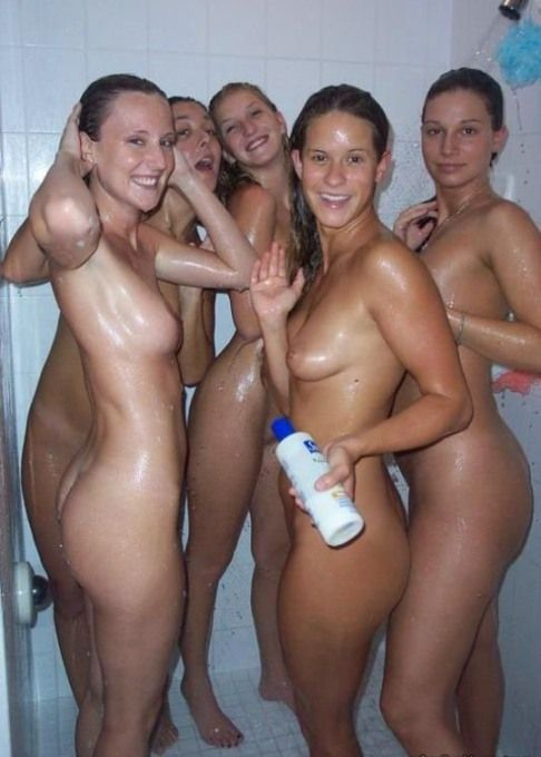 Girls naked in the shower with toys