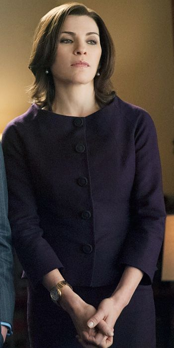 Love the neckline The Good Wife Season 5 Outfits, Explained by Costume Designer Daniel Lawson - Season 5, Episode 21: Style Paris Suit from #InStyle