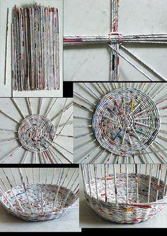 DIY baskets from newspaper - Google zoeken