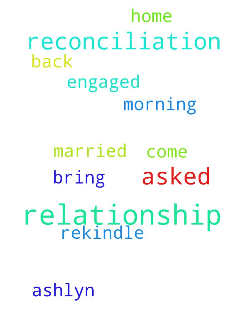 Relationship reconciliation prayers -  I come to you this morning God. I asked for your reconciliation with the relationship with Ashlyn. We were engaged to be married. God I asked you to bring her back home so that we can rekindle relationship with each other and with you  Posted at: https://prayerrequest.com/t/Ib5 #pray #prayer #request #prayerrequest