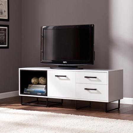 "Patricia White/Black Media Console for TVs up to 50"" - Walmart.com"