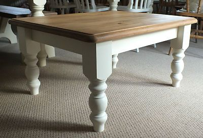 Lovely Large Solid Pine Coffee Table Shabby Chic painted in Laura Ashley | eBay