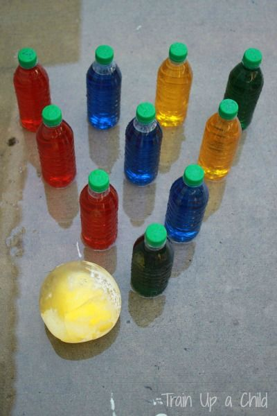 Ice Bowling- Super Summer activity! Would be fun in the driveway in winter too! Or on an icy slope!