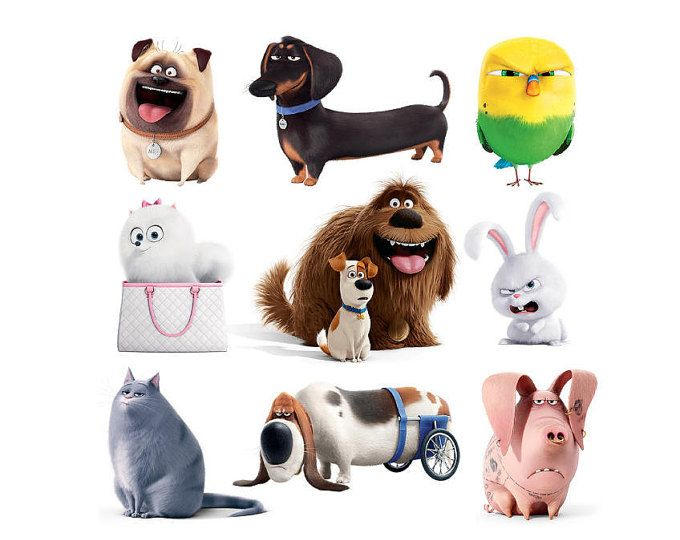 Kit Printable Multipropouse Stickers Toppers Secret Life Of Etsy Secret Life Of Pets Animal Birthday Pets