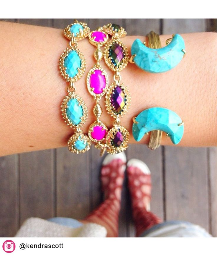 Kendra Scott Carson Bracelet in Turquoise. Coming July 16!