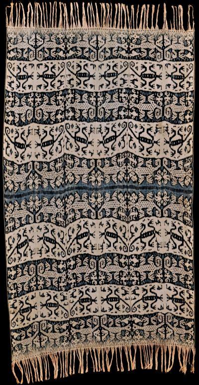 Handspun cotton ikat from Timor-Barat, Timor, Indonesia, 1950 - 1960.