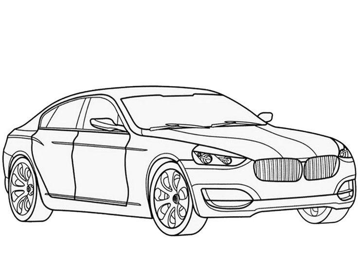 Ausmalbilder Autos BMW M6 | Audi q7, Cars coloring pages ...