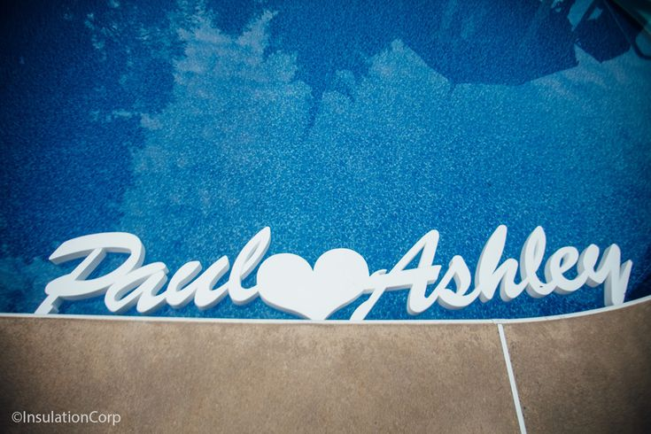 Customized EPS foam floating pool decoration. Personalized foam decorations for any occasion!