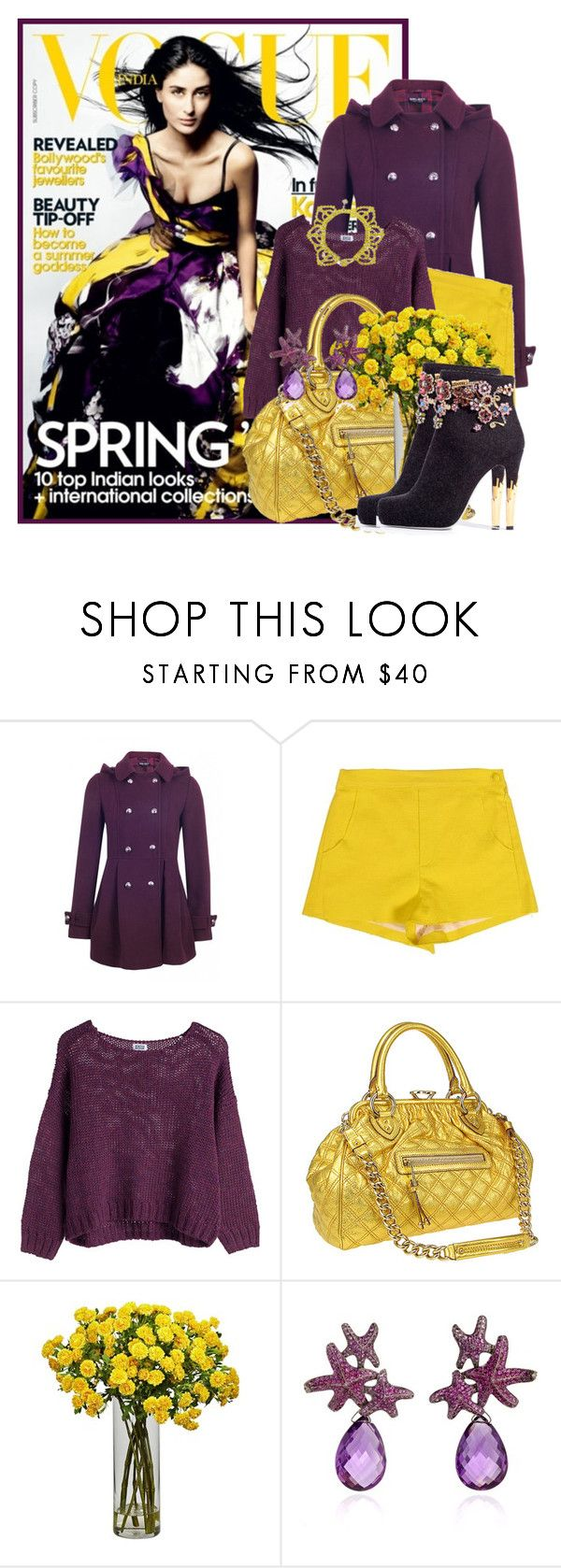 """""""Mustard & Plum"""" by sally92 on Polyvore featuring moda, COVERGIRL, Band of Outsiders, Marc Jacobs, Jason Wu, Lydia Courteille, Toi Et Moi, polyvorecommunity, polyvoreeditorial e polyvorecontest"""