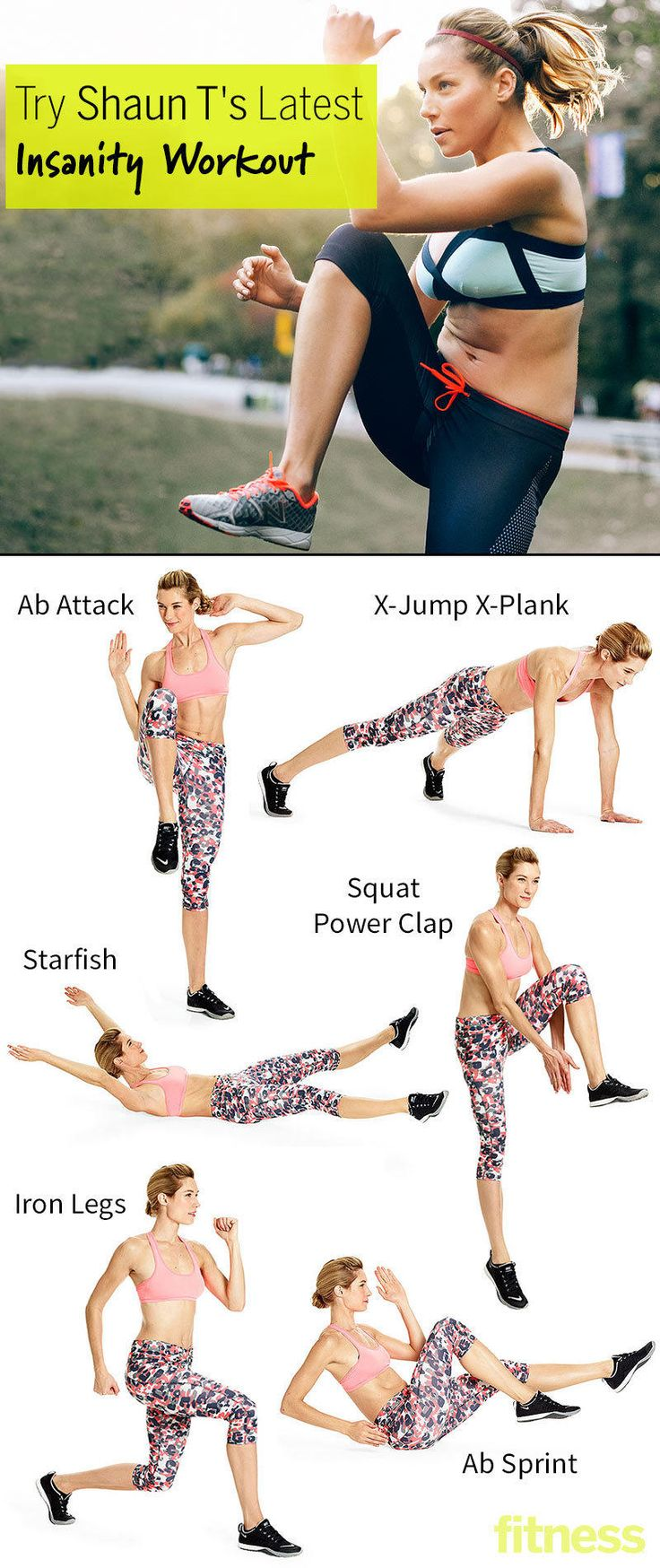 A sneak peek at Shaun T's new, no-equipment Insanity Max:30 workout routine.