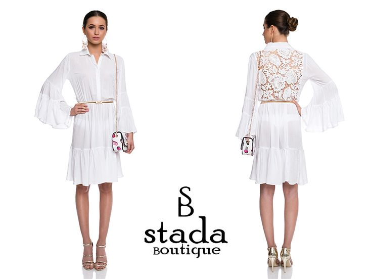 #white #dress #lace #elegant #StadaBoutique #GeorgianaStavrositu