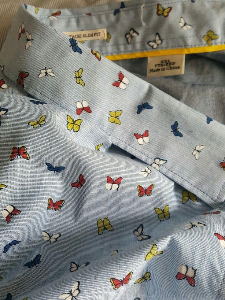 Heritage slim fit  penguin brand mens short sleeve button shirt xxl