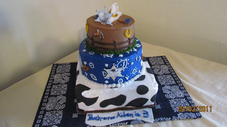 buckaroo birthday, going to have to make this for Aiden's 1st Birthday!!