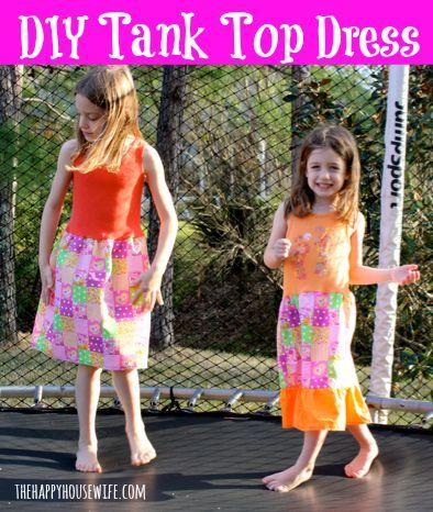 DIY Tank Top Dress Tutorial